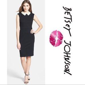 Betsy Johnson Black Jacquard Pearl Collar Dress 12